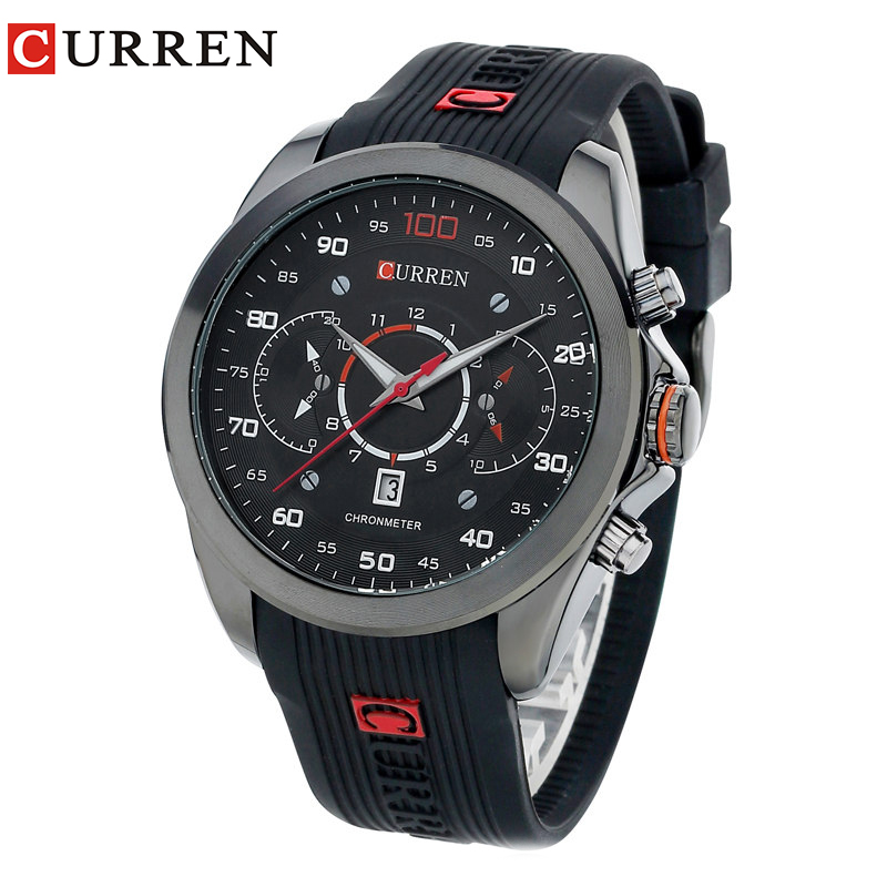 CURREN Mens Watches Top Brand Luxury Men's Sports Quartz Wristwatches Relogio Masculino Men Curren Watches 8166 relogio masculino original curren wristwatches mens watches top brand luxury silicone sports watches military army waterproof