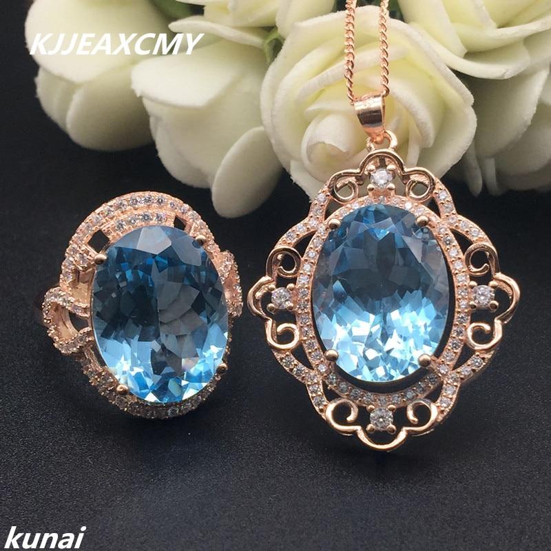 KJJEAXCMY Fine jewelry, Multicolored jewelry around 925 silver zirconium new natural blue topaz ladies suit рюкзак madpax rex 2 half light blue multicolored kab24485083 225874