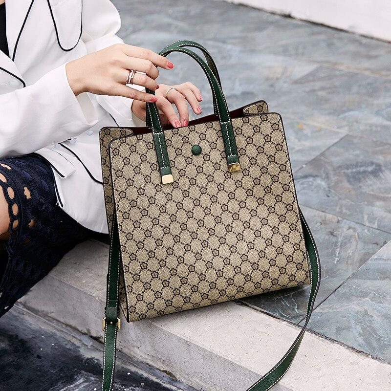 Designer cuir luxe sacs à main femmes sac Designer Messenger sacs femme sacs 2018 véritable décontracté grande capacité