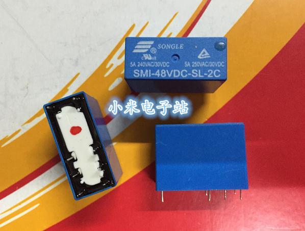 Free shipping new   relay  SMI-48VDC-SL-2C 48V  8pin  5A 250V HRM1H 14FD 10pcslot