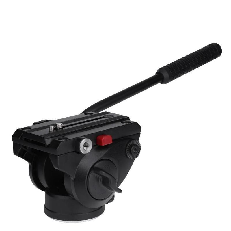 Tête de trépied d'appareil-photo tête hydraulique en alliage d'aluminium amortissement panoramique PTZ tête fluide à bascule trépied tête sphérique pour appareil-photo DSLR