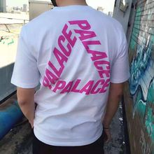 Newest Palace T Shirt Men Brand Clothing Skateboards Homme Classic Triangle Print Palace Tshirt Funny Hip Hop Medusa HBA T-shirt