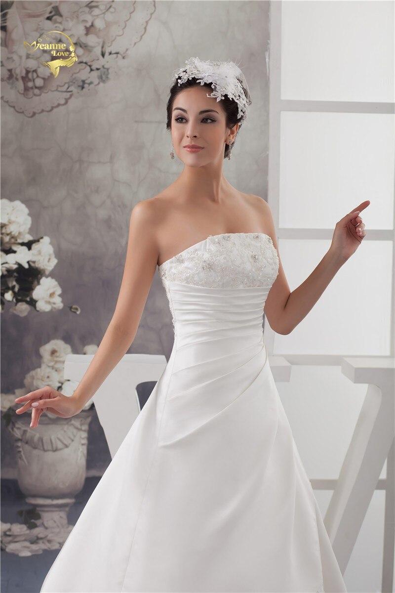 2016 Bílé / slonovinové Luxusní Vestido De Noiva Robe De Mariage - Svatební šaty - Fotografie 6