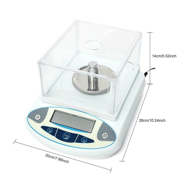 Balance analytique de laboratoire 1000g 0.01g Balance de précision numérique Balance de bijoux de précision électronique Balance de poids Balance analytique - 4