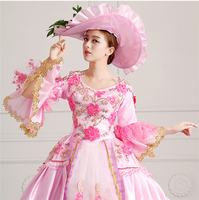 European Court Dress 18th Century Queen Victorian Dresses Ball Gowns For Ladies Halloween Cosplay Costume Cloth