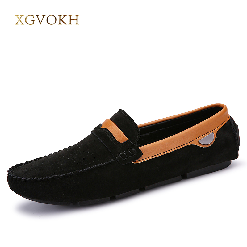 Men's Shoes Leather Moccasin Mens Slip On Driving Shoes Casual Boat  Classic Men Loafers xgvokh brand Leisure Casual black flats men s crocodile emboss leather penny loafers slip on boat shoes breathable driving shoes business casual velet loafers shoes men