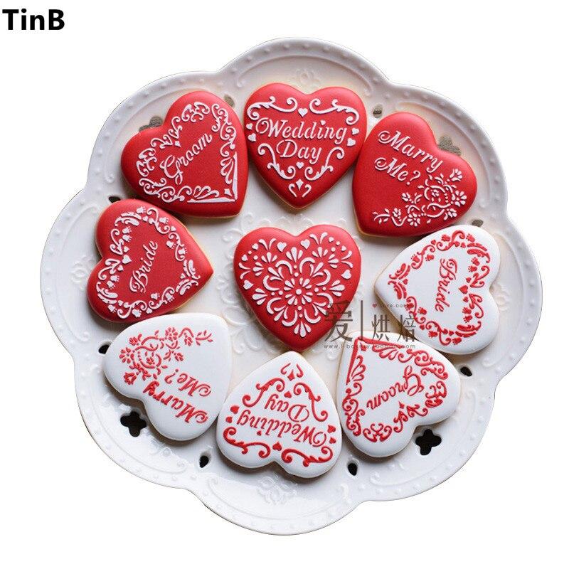 Valentinstag Kuchen Schablone Hochzeit Dekoration Fondant Ausstecher