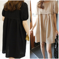 Maternity White Breast Feeding Dress Pregnant Nursing Dresses Women Khaki Lactation Clothes Black Knee Length Clothing Summer
