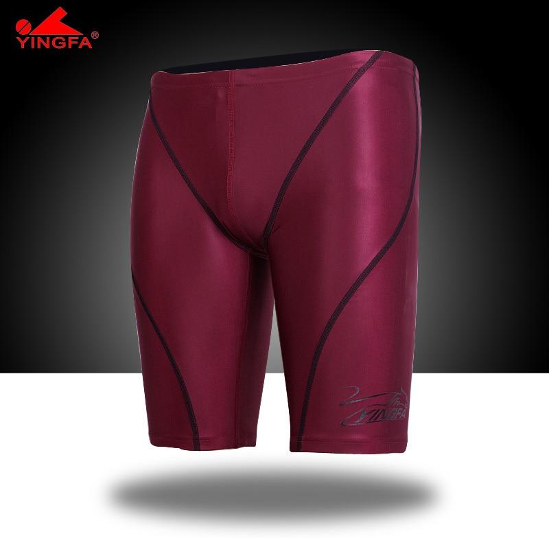 Yingfa vysoce kvalitní voděodolné, odolné proti chlóru závodní pánské plavat rušičky pánské plavky pánské plavky plavecké kufry