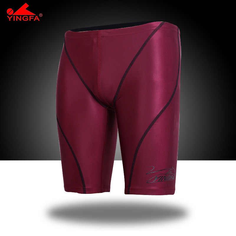 Yingfa высокое качество водонепроницаемость, хлор устойчивы Гонки мужские плавки мужские купальники плавки
