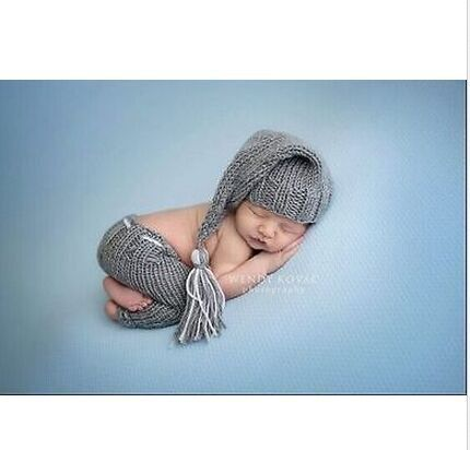 0 6m Handmade Knitting Baby Boy Photo Props Infant Kid Hat Clothes