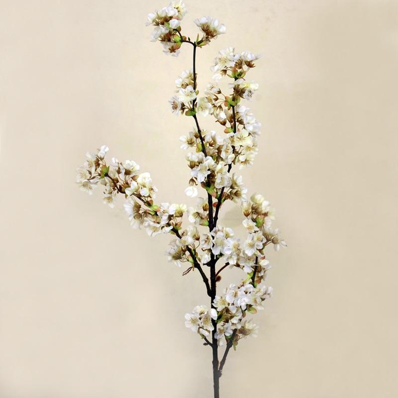 5 piezas decorativas de seda flor de cerezo flores artificiales decoración de boda Sakura flores falsas centros de mesa decoración Flor de melocotón-in Flores artificiales y secas from Hogar y Mascotas    2