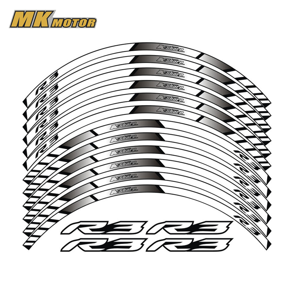 For YAMAHA R3 General purpose motorcycle wheel decals