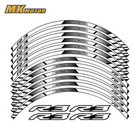 For YAMAHA R3 General purpose motorcycle wheel decals Reflective stickers rim stripes For YAMAHA R3