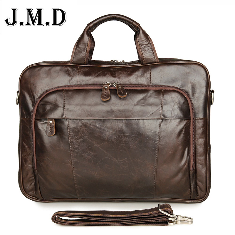 7334Q 2016 New Products 100% Genuine Leather Handbags Vintage style Men's Coffee Briefcase Laptop Bag Mens Business Bags