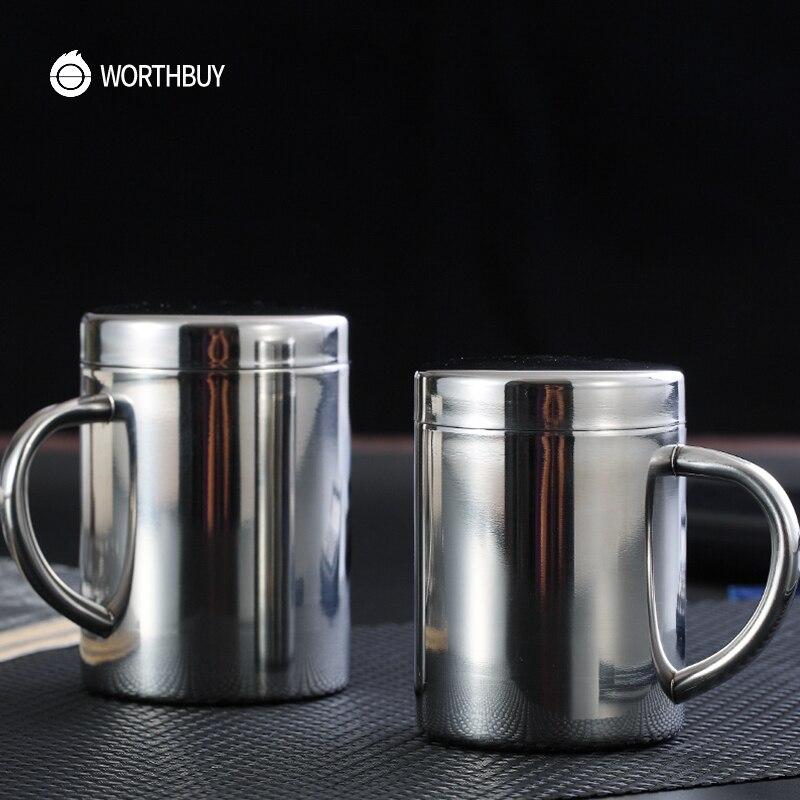 WORTHBUY Chinese Coffee Mug 304 Stainless steel Coffee Cup ...
