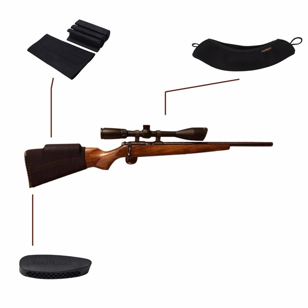 Tourbon Hunting Gun Accessories Buttstock Cheek Rest Raiser Rifle Scope Cover Neoprene Waterproof Recoil Pad(1 SET)