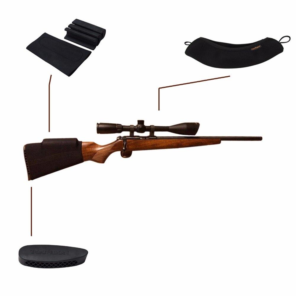 Tourbon accessoires de pistolet de chasse Buttstock repose-joue rehausseur de portée de fusil couverture néoprène imperméable à l'eau recul Pad (1 ensemble)