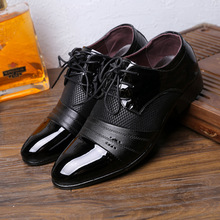 Hot Classic Man Pointed Toe Dress Shoes Mens Patent Leather Wedding Shoes Oxford Formal Shoes Big Size fashion
