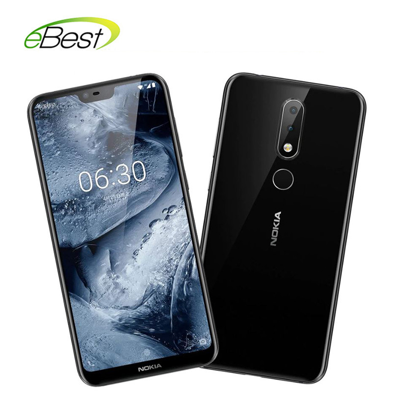 Nokia X6 Android Mobile Phone 5.8 Inch 18:9 FHD+ Snapdragon 636 Octa Core 3060mAh 16.0MP+5.0MP Camera Fingerprint ID Smartphone