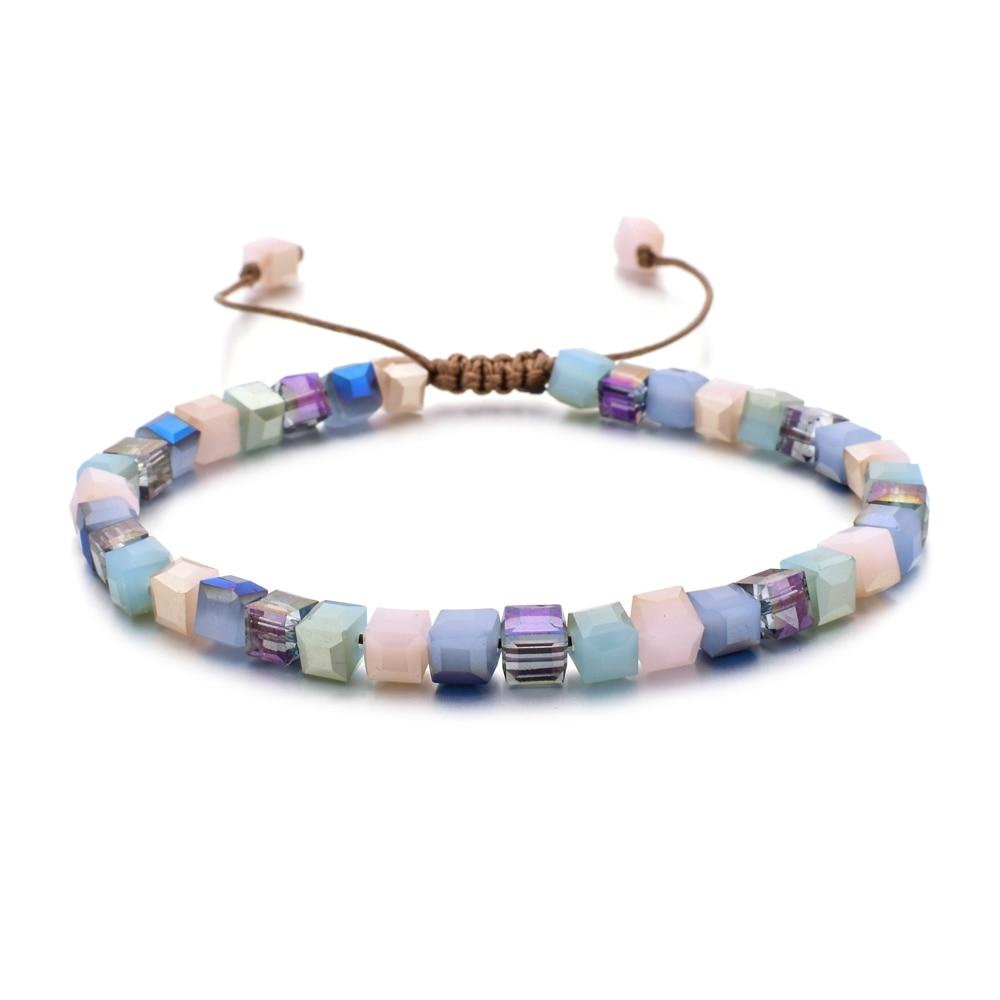 Женский браслет из стекла ZMZY, новый модный стильный браслет с кристаллами, подарочные украшения, аксессуары ручной работы, безделушка
