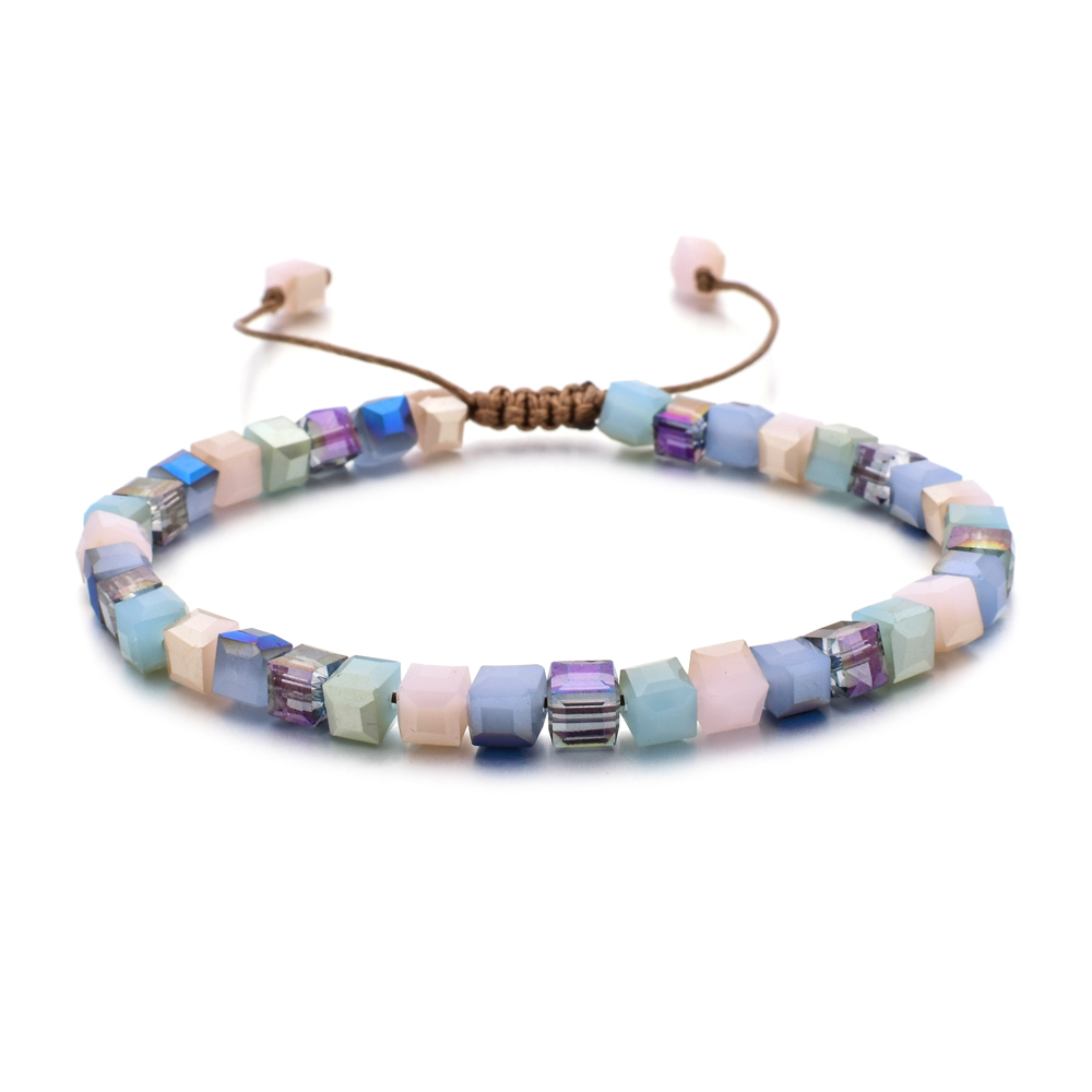 ZMZY Новый модный стиль женский браслет стеклянные хрустальные браслеты подарки ювелирные изделия аксессуары ручной работы браслет брелок