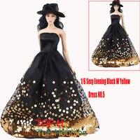 Free Shipping Children Doll S Luxurious Black Evening 1 6 Special Wedding Evening No 5 Dress
