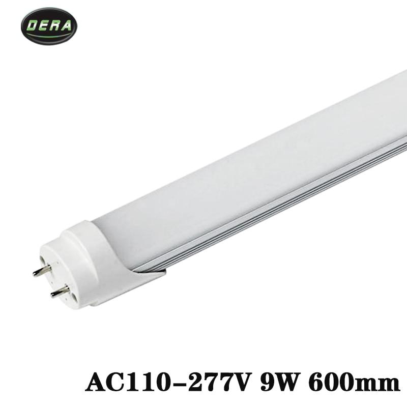 25/50 шт T8 2FT 600 мм 9 w Светодиодный свет пробки SMD 2835 супер Яркость AC110 277V lamparas светодиодная флуоресцентная лампа трубы 604 мм