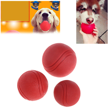 1Pc Pet Dog Toy Rubber Ball Bite-resistant Chew Toys Dogs Puppy Teddy Pitbull Pet Supplies Paly 4.5cm/6cm/7cm Ball C42