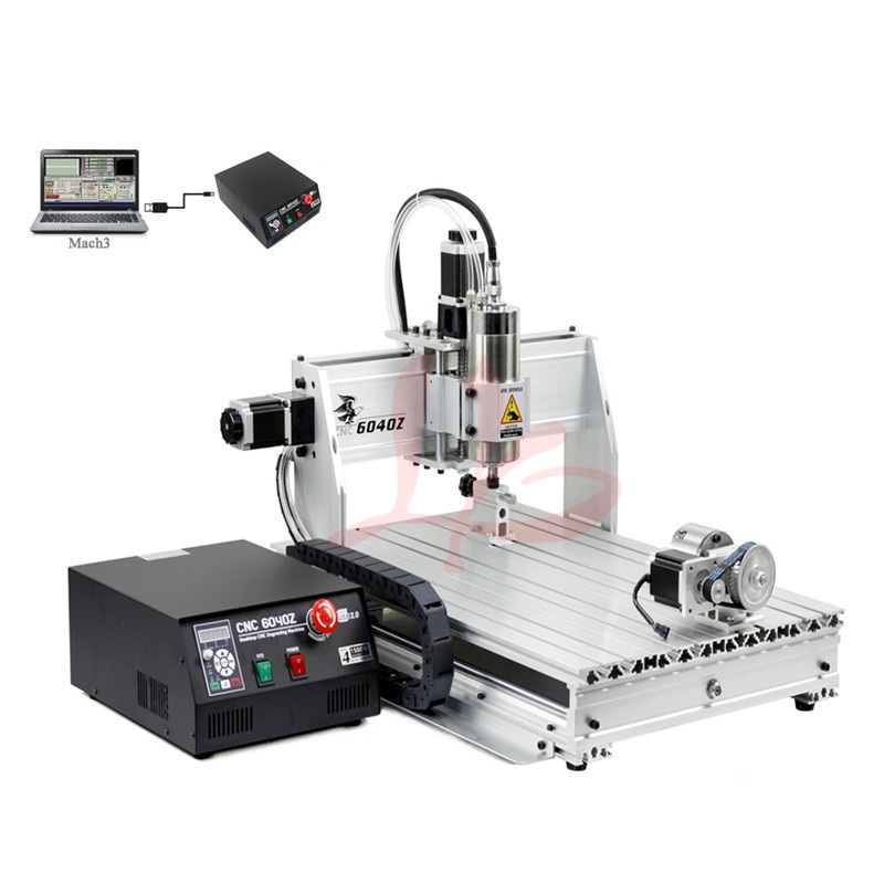 USB LPT <font><b>CNC</b></font> <font><b>6040</b></font> <font><b>4</b></font> <font><b>axis</b></font> 2.2KW 1.5KW <font><b>CNC</b></font> router woodworking milling engraving machine mach3 control <font><b>cnc</b></font> engraver image