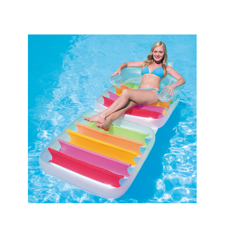 201 * 89 CM folding backrest aqua loungers floating row inflatable in water floating bed water bed beach mat Float in the pool commercial sea inflatable blue water slide with pool and arch for kids