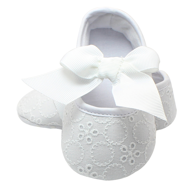 Christening Pre-walker Shoes First Walkers Pink Bowknot Baby Girl Lace Shoes  Toddler Prewalker Anti-Slip Shoe Simple Baby Shoes fe1c8091c968