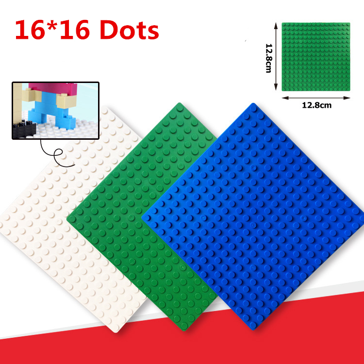1pcs Small Blocks Base Plate 16x16 Dots building Plastic blocks DIY Baseplate For Bricks toy for children small pineapple ru bun lock children puzzle toy building blocks