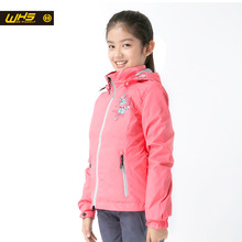 WHS new Girl jackets Sport outdoor windbreaker coat Autumn Windproof and breathable clothing teenage  camping jacket Spring