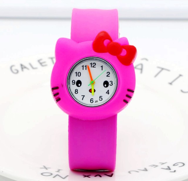 Lovely Hello Kitty students Children Small Watch Kids Cute Silicone Watches Boys
