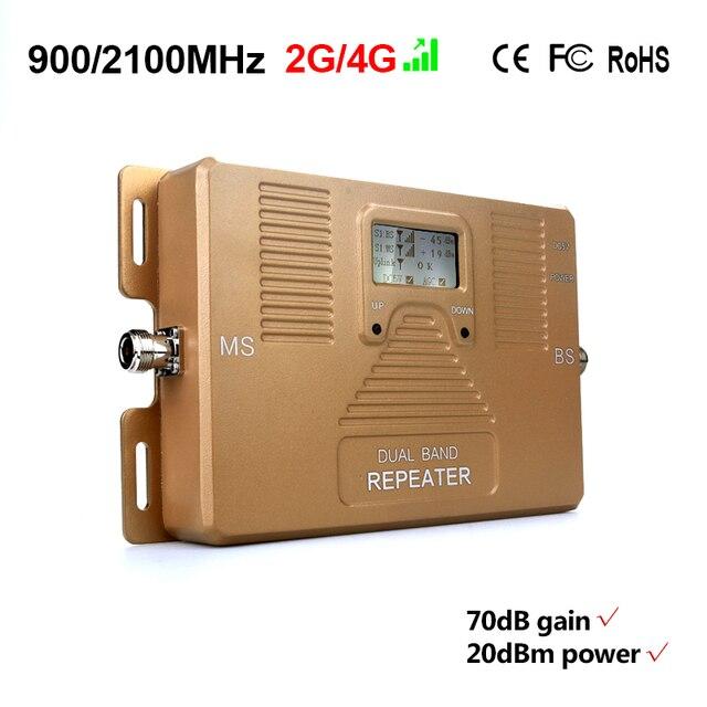 Высокое Качество! 2 г + 3 г мобильный усилитель сигнала, 2 Г, 3 Г 900/2100 мГц, dual band сотовый усилитель сигнала ТОЛЬКО ретранслятор и адаптер