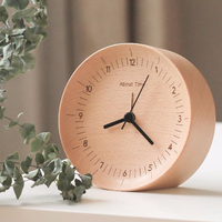 Time Wooden Silence Alarm Clock Digital Clock Metal Modern Table Clock Snooze Modern
