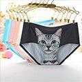 Mulheres sexy gatinho calcinhas sem costura modais cuecas meninas gato bonito calças underwear bragas lingerie panty calcinhas íntimas hc1655