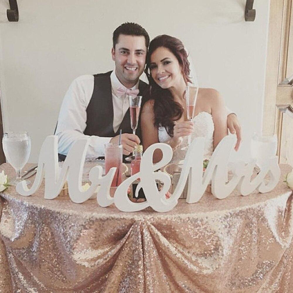 Ev ve Bahçe'ten Heykelcikler ve Minyatürler'de Mr Mrs Sevgiliye masa centerpiece işareti düğün dekorasyon ahşap mektup title=