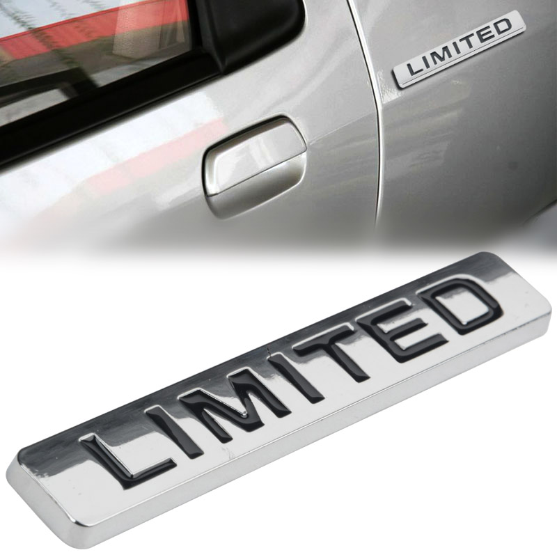 Mayitr Black Silver Metal LIMITED Emblem Badge Sticker Car Body Side Wing Tailgate For Jeep Grand Cherokee Refit Sticker mayitr metal 3d black limited edition sticker universal car auto body emblem badge sticker decal chrome emblem car styling