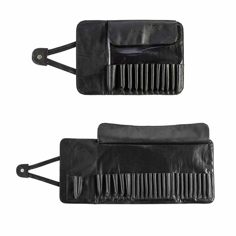 Professional 12/24 Slot Makeup Brush Organizer Cosmetic Rolling Bag Case Container Pouch BagsProfessional 12/24 Slot Makeup Brush Organizer Cosmetic Rolling Bag Case Container Pouch Bags