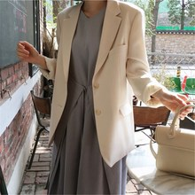 Fashion 2019 New Single Breasted Solid Work Blazer Women Long Sleeve Pocket Suit Blazers And Jackets Casual Office Outwear long blazers casual solid double breasted women blazer and jackets feminino work office lady notched flap pocket business blaser