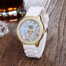 Nouveau Arrivé sloggi hibou de bande dessinée montres silicone filles enfants quartz montre-bracelet femmes enfant mujer montres vente chaude de mode relojes
