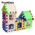 Crianças bebê Crianças Casa Blocos de Construção Construção de Aprendizagem Educacional Developmental Toy Set Jogo Do Cérebro