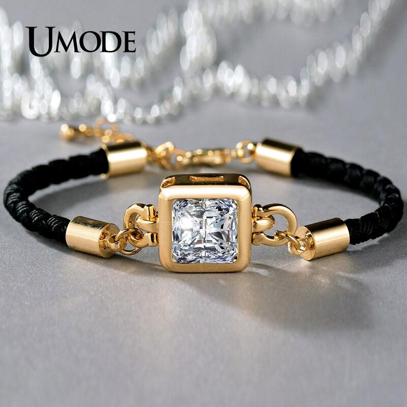 font b UMODE b font Brand Crystal Chain font b Bracelet b font For Women
