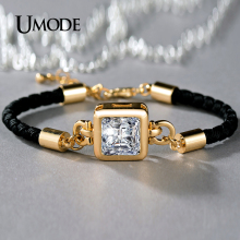 UMODE Brand Crystal Chain Bracelet For Women Jewelry Fashion Charm Bracelets Bangles Bijoux Femme Christmas Gifts Design AUB0092
