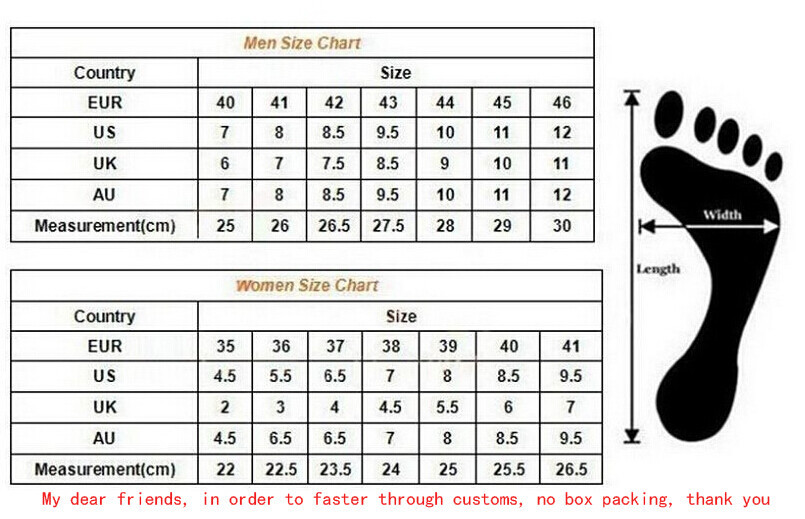 Uk Size Men S Shoe Chart