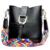 Dusun mulheres abertura corda messenger bags ombro único saco de moda de luxo bolsas de couro genuíno das mulheres retro saco