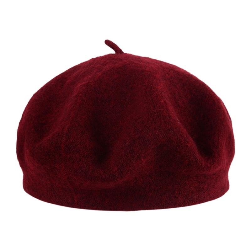 Popular Women Beret Winter Warm Female British Style Painter Bonnet Hats Solid Caps Fashion Sadual Ladies Mujer Accessories