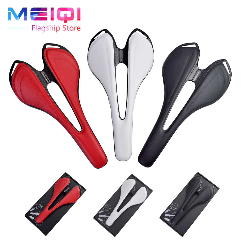 NO LOGO Full Carbon Fiber Bicycle Saddle  Road/MTB Bike Saddle Cycling Bike Seat Saddle Cushion Bike Parts  about 123g new arrival carbon saddle bicycle bike saddle seat road bike saddle sillin bicicleta sillin carbono sella carbonio